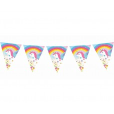 "Flag banner ""Rainbow Unicorn"" length 360 cm, 11 flags"