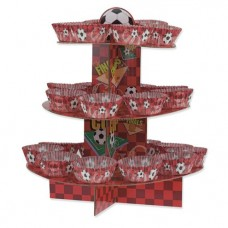 1 Red Football Cup Cake Kit