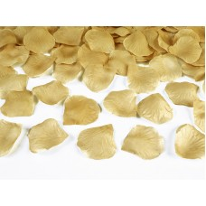 Rose petals in a bag, gold (1 pkt / 100 pc.)
