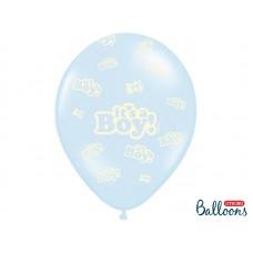 Balloons 30cm, It's a Boy, Pastel Baby Blue 6 pc.