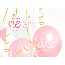 Strong Balloons One, 30cm, Pastel Baby Pink 6 pc.