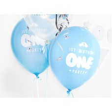 Strong Balloons One, 30cm, Pastel Baby Blue 6 pc.