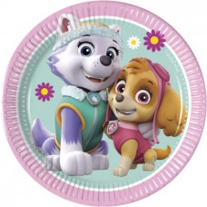 Paw Patrol Skye and Everest party plates 2019 - 20cm - 8pcs
