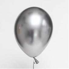 Chrome Balloons Silver 30cm - 5pcs