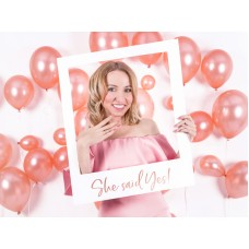 Selfie photo frame She said yes, rose gold, 50x59.5cm
