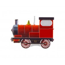 Steam Train Candle, metallic