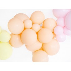 Strong Balloons 12cm, Pastel Light Peach 1pc