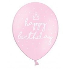 Strong Balloons 30cm, happy..., P. B. Pink (5 pc.)