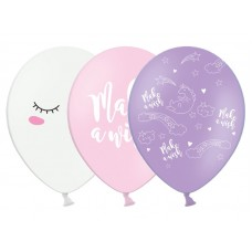 Balloons 30cm, Unicorn, mix - 6 pcs