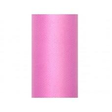 Tulle Plain, deep pink, 0.3 x 9m