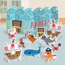Table Decoration Kit Ahoy Birthday Paper 11 Pieces