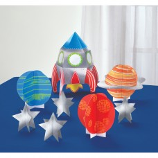 Table Decoration Kit Blast Off Paper 8 Pieces