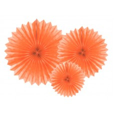 Tissue fan, peach, 20-40cm (1 pkt / 3 pc.)