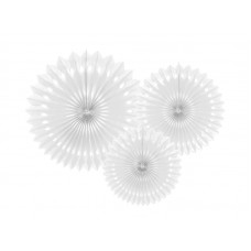Tissue fan, white, 20-30cm (1 pkt / 3 pc.)