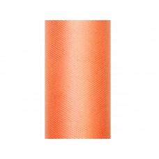 Tulle Plain, orange, 0.3 x 9m