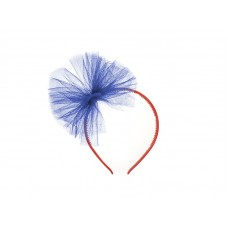 Tulle headband, navy blue