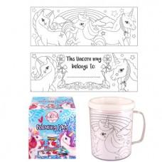 Unicorn Colouring Mug 10cm x 8.5cm