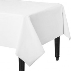 Table Cover Plastic Frosty White 137 x 183 cm