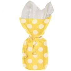 Yellow Polka Dots Cello Party Bags 28cm x 12cm  - 20pcs