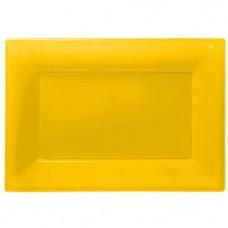 Yellow Serving Platters - 23cm x 32cm Plastic