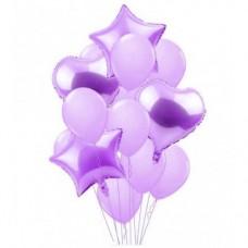 Balloons bouquet Lilac - 12 pcs