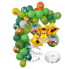 Arch 69 - Jungle + Foil Balloons Set