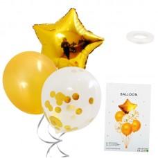 Balloon bouquet - gold, 7 pcs