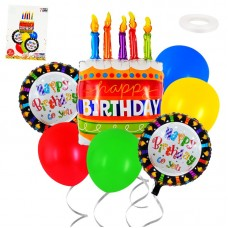 Balloon set Happy Birthday cake, 7pcs