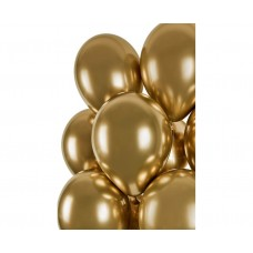 "Beauty&Charm balloons, platinum gold 12"" / 7 pcs."