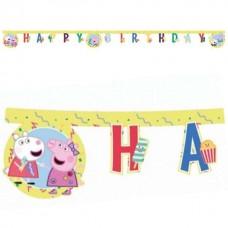 Peppa Pig Happy Birthday Banner 2m