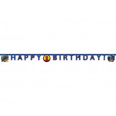 Banner Spiderman Team Up - Happy Birthday -  2m