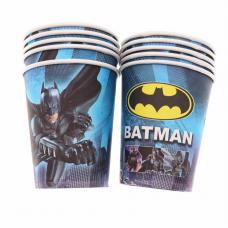 Paper Cups 10pcs, Batman