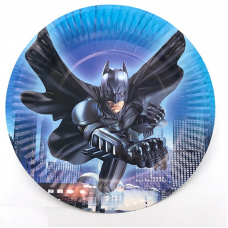 Paper Plates 18cm, 10pcs, Batman