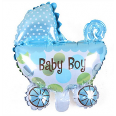 Foil Balloon Baby Boy Stroller, 78cm x 72cm - 1pc