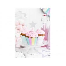 Cupcake wrappers Unicorn, 5x7.5x 5cm (1 pkt / 6 pc.)