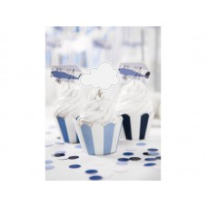 Cupcake wrappers, mix, Little Plane 5 x 7.5 x 5cm (1 pkt / 6 pc.)