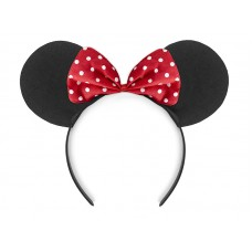Headband Mouse, black and red