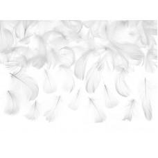 Decorative feathers, white, 3g