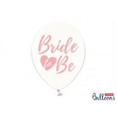 Balloons 30cm, Bride to be, Crystal Clear (6pc.)