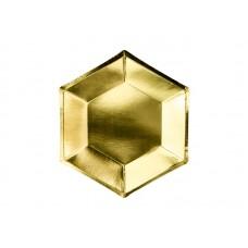 Plates, gold, 20 cm (1 pkt / 6 pc.)