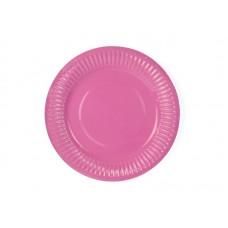 Plates, pink, 18cm (1 pkt / 6 pc.)