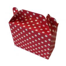 Paper boxes for sweets, dots, red, 6 pcs (14cm х 6cm х 11cm)