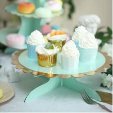 Cake stand 32cm, mint