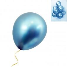 Blue Chrome Balloon - Latex 30cm - 7 pcs