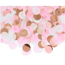 Confetti circles, paper and foil, rose-gold mix, 15 g