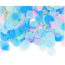 Confetti paper and foil circles, pastel mix, 15 g
