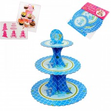 Cupcakes stand, blue