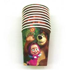 Paper Cups 10pcs, Masha and the Bear