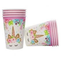 Party Cups Unicorn, 10pcs