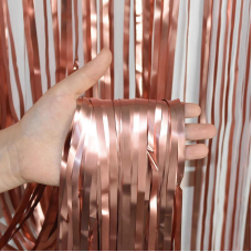 Party curtain, rose gold, 100x200cm